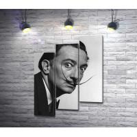 Сальвадор Дали, черно-белый портрет
