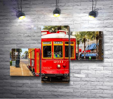 Ретро-трамвай на улицах Франции