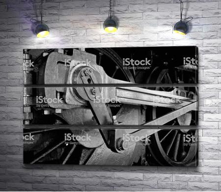 Механизм колес поезда