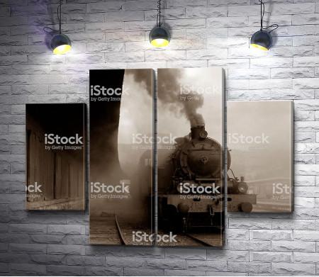 Поезд прибывает на станцию
