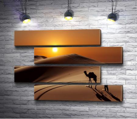 Верблюд в песчаной пустыне