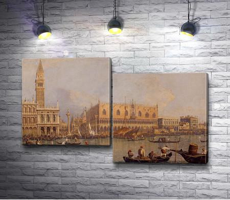 "Каналетто ""Вид на Дворец дожей в Венеции"""