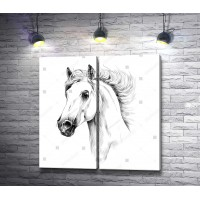 Нарисованная лошадь