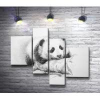 Нарисованная панда