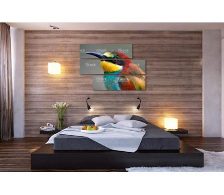 Разноцветная птица