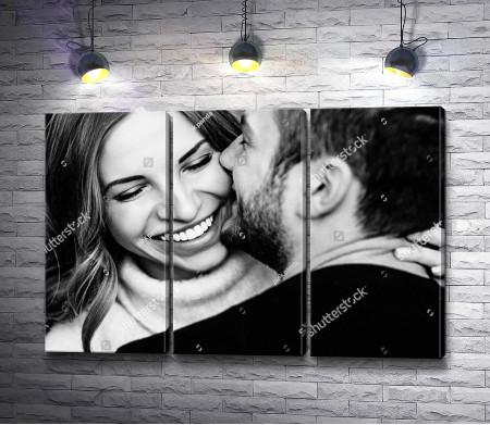 Счастье, черно-белое фото