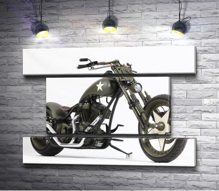 Стильный мотоцикл Custom Chopper