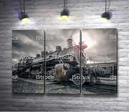 Ретро поезд на станции