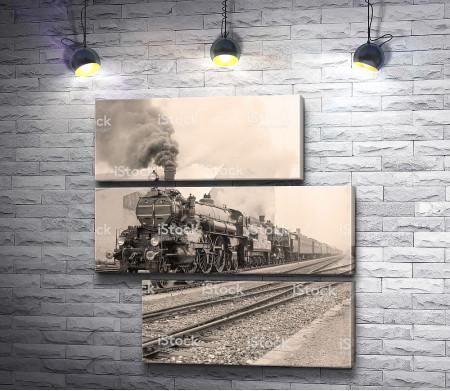 Ретро-фото старого поезда