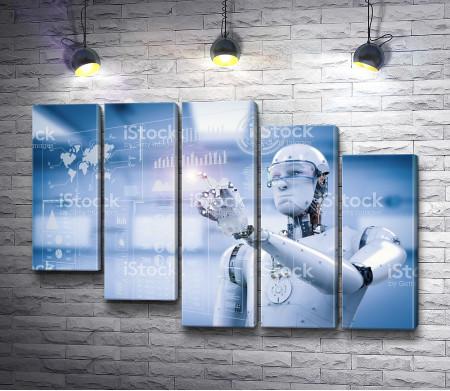 Робот  в научной лаборатории
