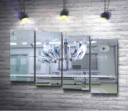 Современная операционная с робототехникой