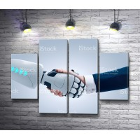 Рукопожатие человека и робота