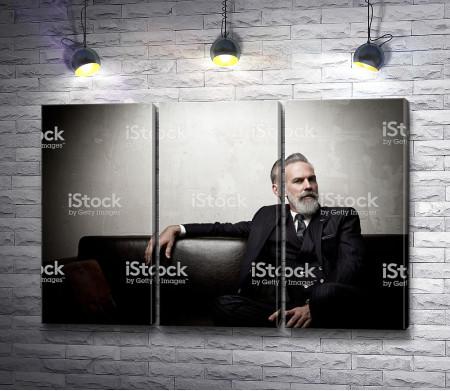 Стильный мужчина бизнесмен