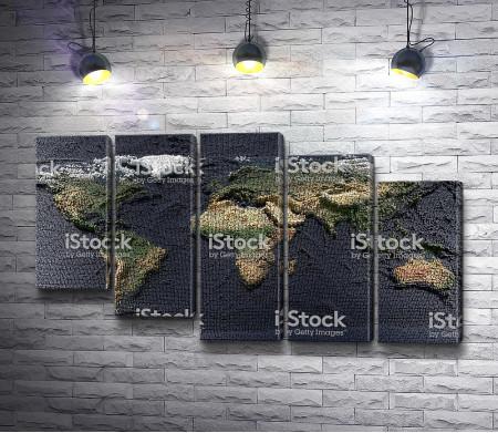 Карта мира из кубиков