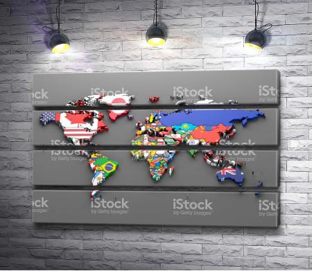 Страны на карте мира