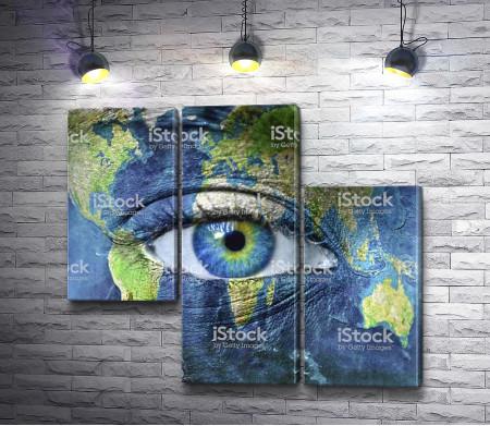 Бодиарт - карта мира