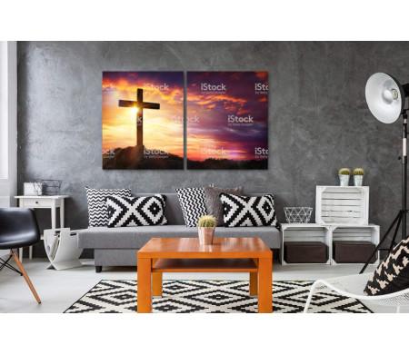 Статуя Креста на закате