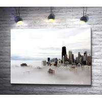 Небоскребы Чикаго в тумане