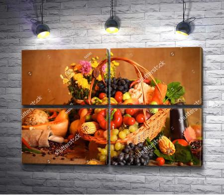 Осенние овощи, натюрморт