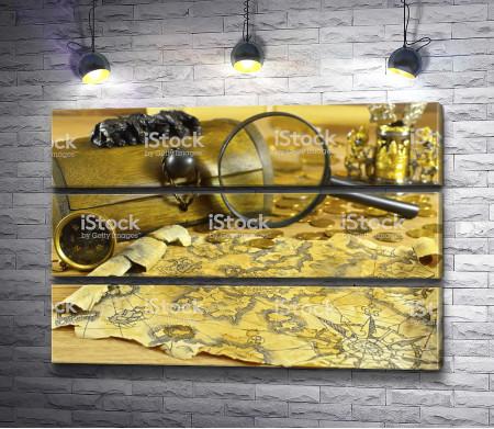 Карта и сундук с сокровищами