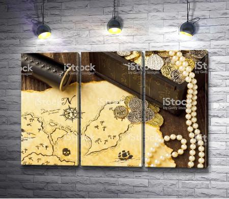 Карта с пиратскими сокровищами