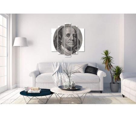 Бенджамин Франклин на 100 долларовой купюре