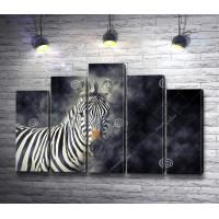 Зебра в дымке