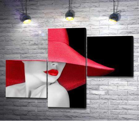 Девушка в красной шляпе