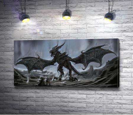 Дракон с рогами