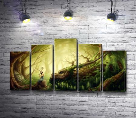 Лесная девушка и дракон-дерево