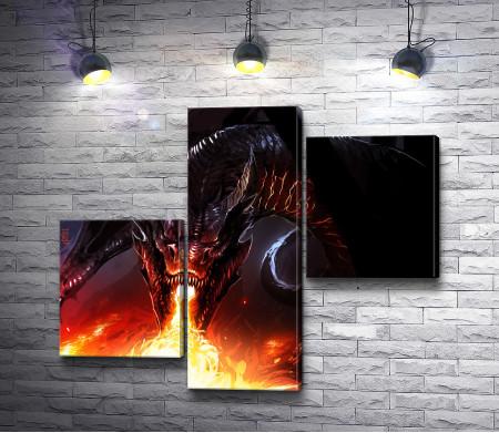Дракон и огненный поток