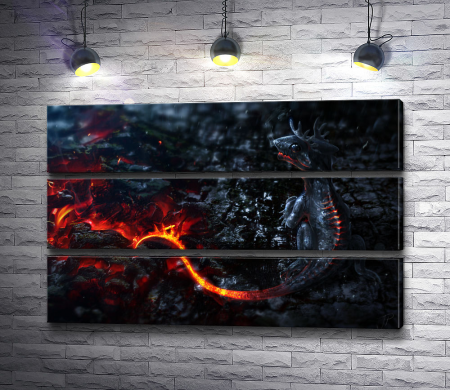 Дракон с огненным хвостом