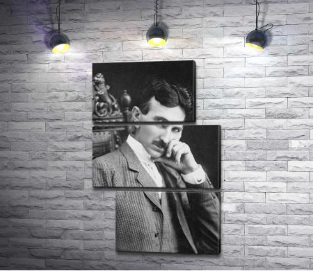 Никола Тесла, черно-белый портрет