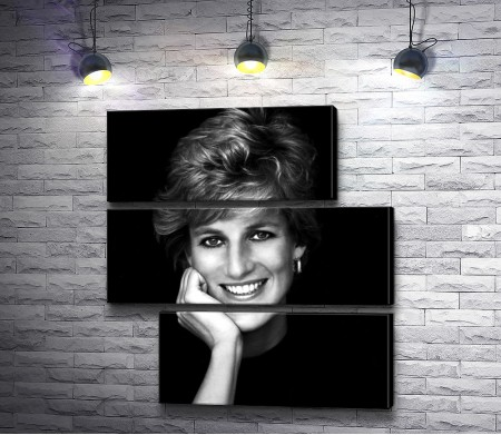 Черно-белое фото принцессы Дианы