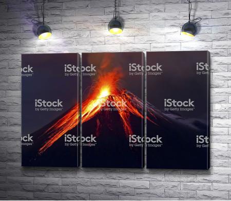 Вулканический пик горы
