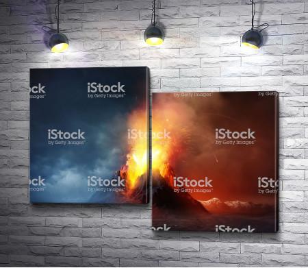 Огонь над вулканом