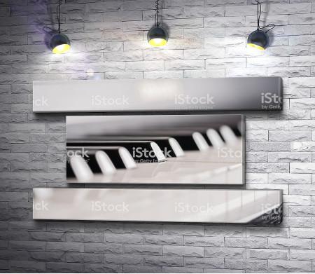 Клавиши пианино, макросъемка