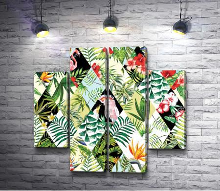 Тропические птицы и растения