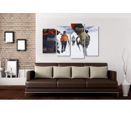 Альпинисты во время зимнего похода
