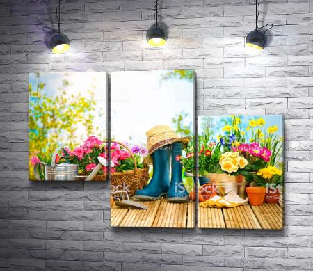 Садовые цветы и инвентарь