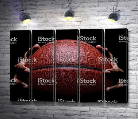 Баскетбольный мяч, макросъемка