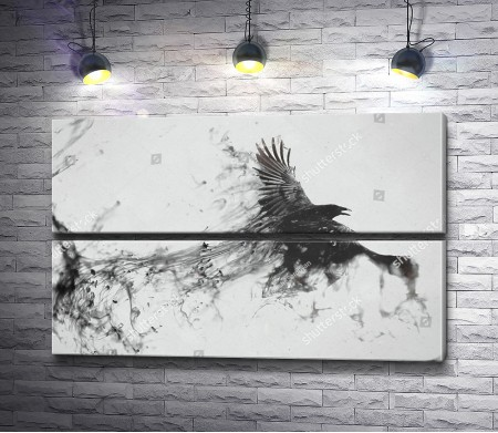 Черный ворон в арте