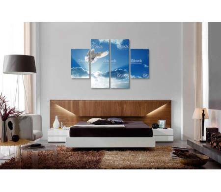 Голубь среди облаков