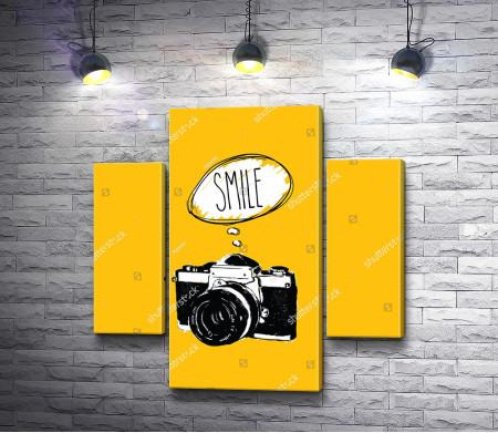 "Постер ""Улыбайся на всех фото"""