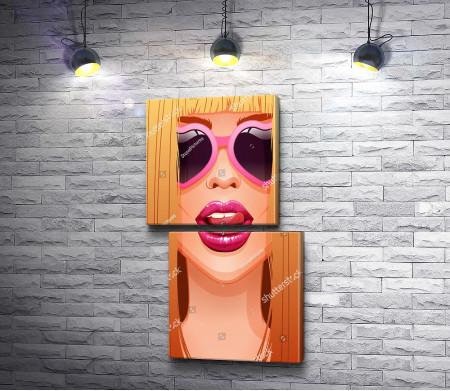 Сексуальная девушка в арте