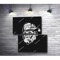 Стильная обезьяна в кепке