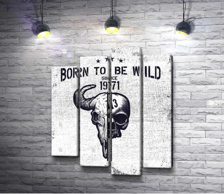 "Винтажный плакат ""Born to Be Wild"""