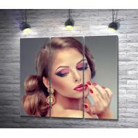 Девушка с красивым макияжем