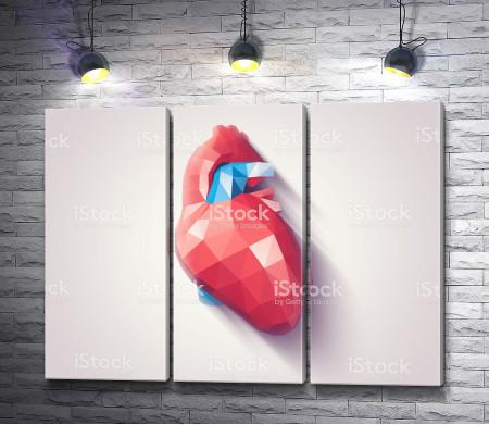 Сердце геометрической формы