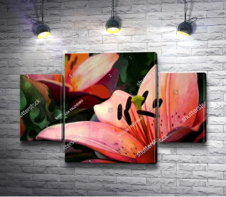 Нарисованная лилия